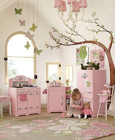 little girl kitchen sets soap dispensers amazing play area love the pottery barn so expensive though