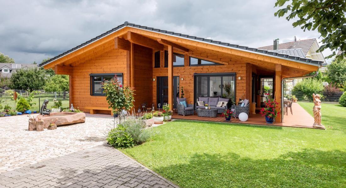 Holzhaus am Oberrhein Fullwood Wohnblockhaus