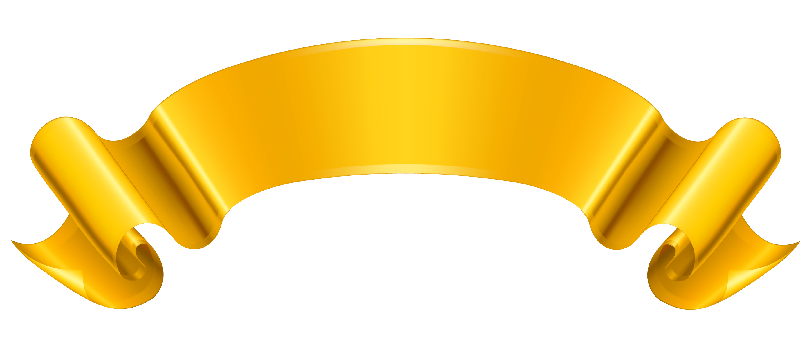 Gold Banner Vector Png 84880 | DFILES