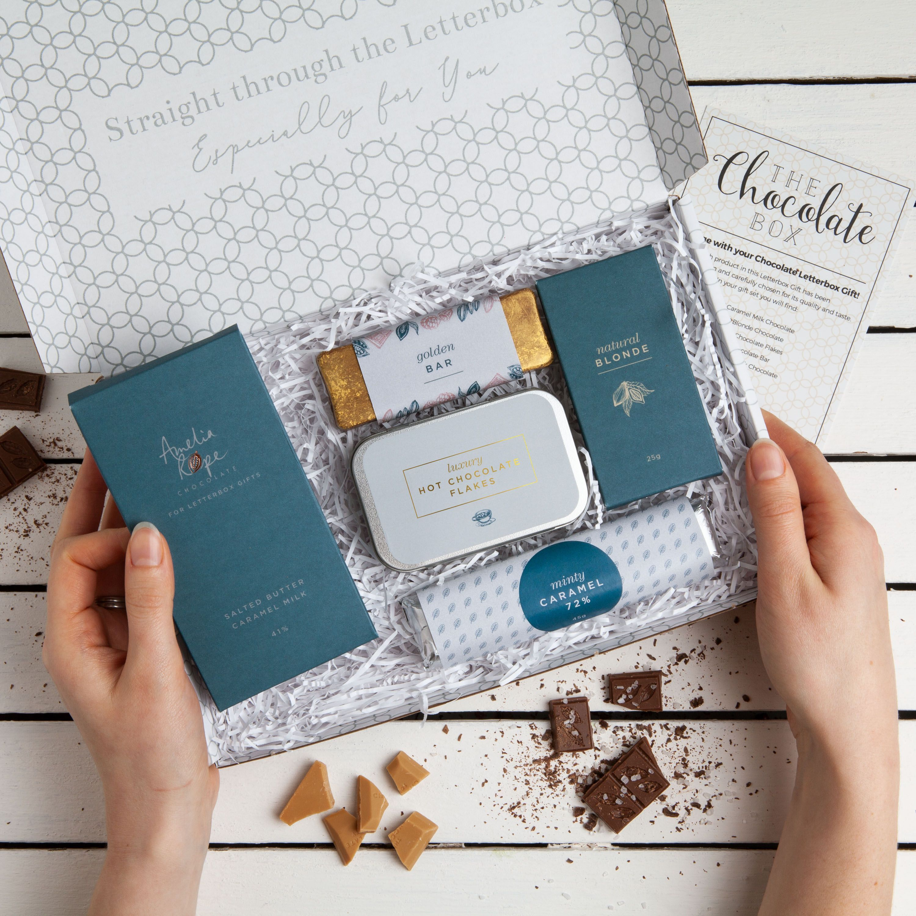 Our chocolate gift set has had a makeover and is now as