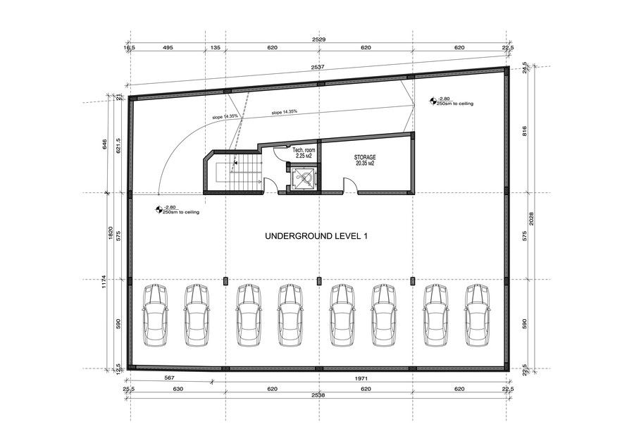 Contest Entry 13 For Underground Parking Garage Design On A Small Plot Garage Design Parking Design Garage Floor Plans