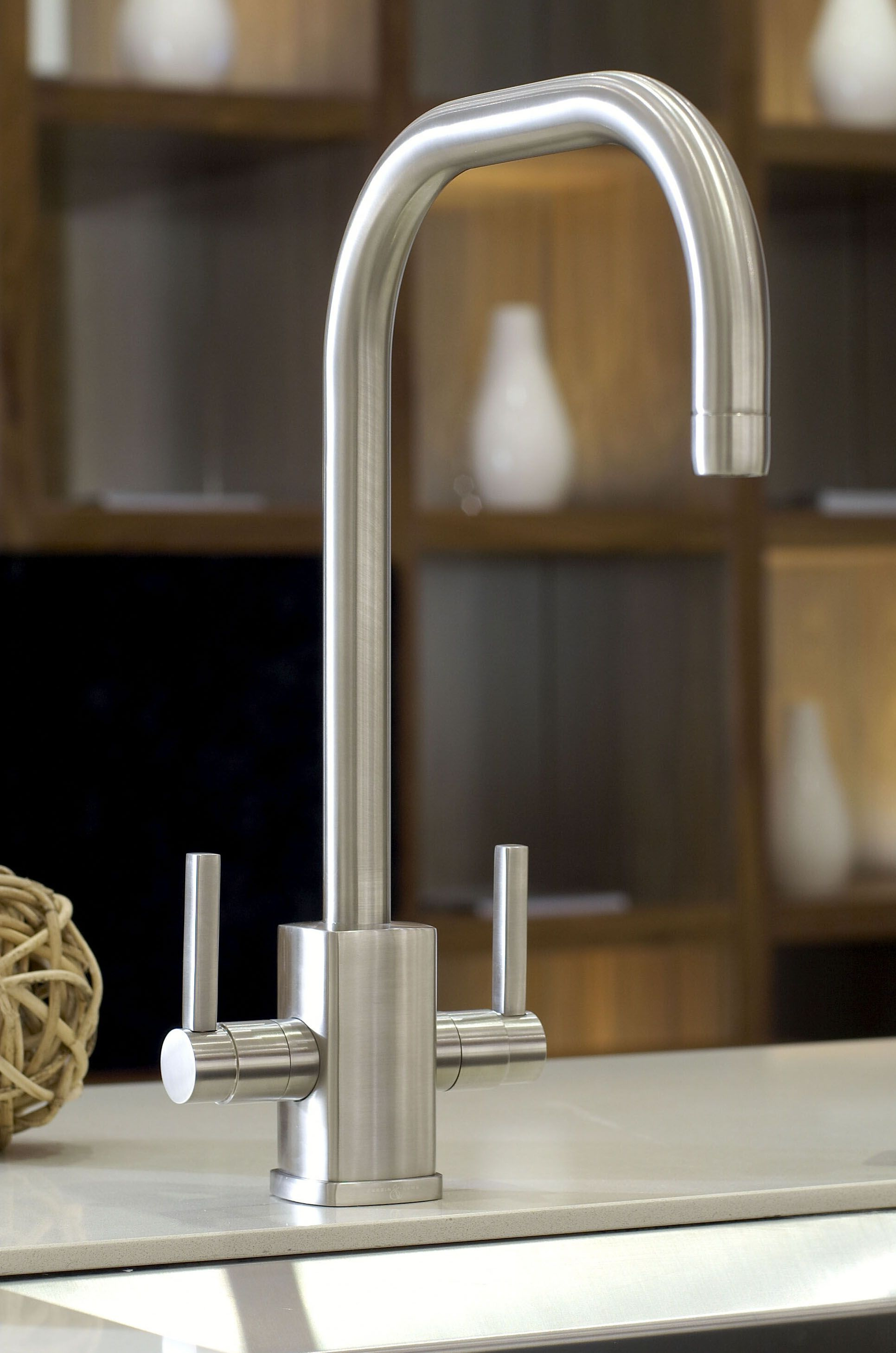 Perrin & Rowe Rubiq Sink Mixer with \'U\' Spout, 4210PF, from the ...