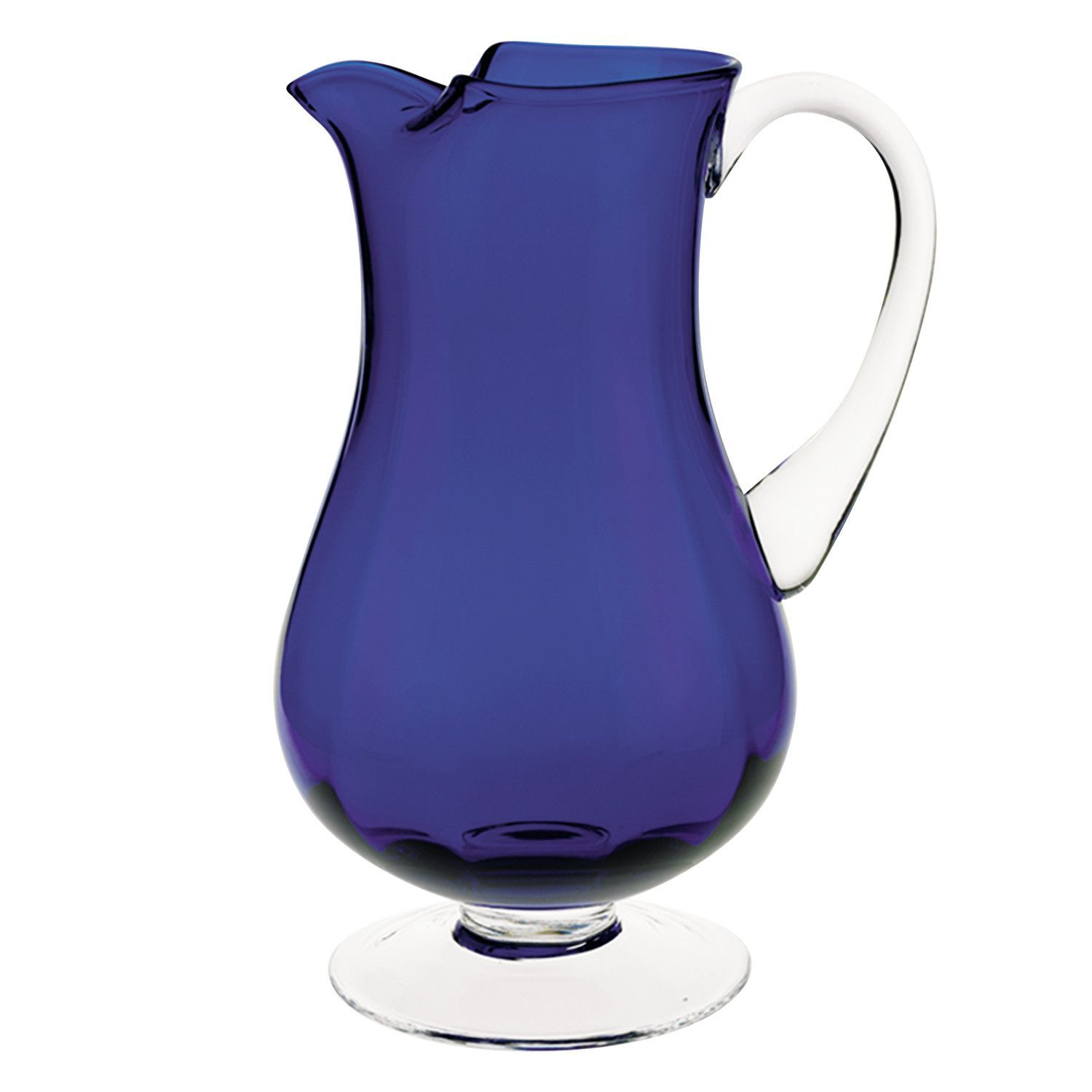Impressions Optic Pitcher In 2020 Blue Pitcher Pitcher Cobalt Glass