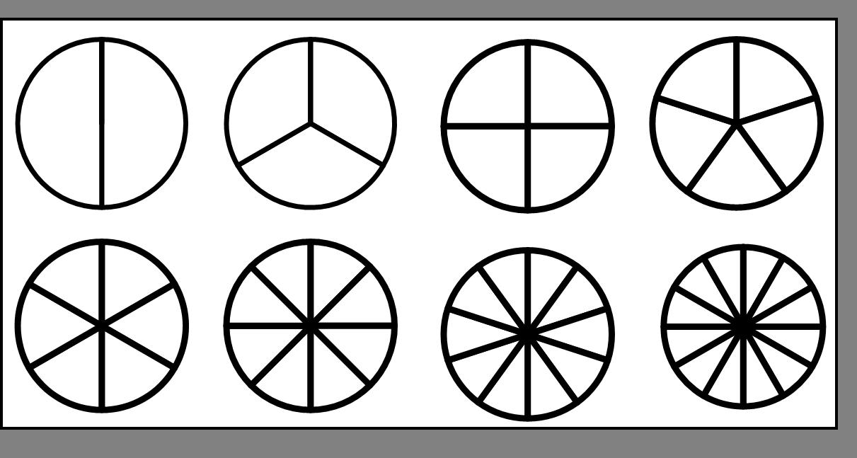 Atelier les fractions disques colorier cole - Fraction cm1 a imprimer ...