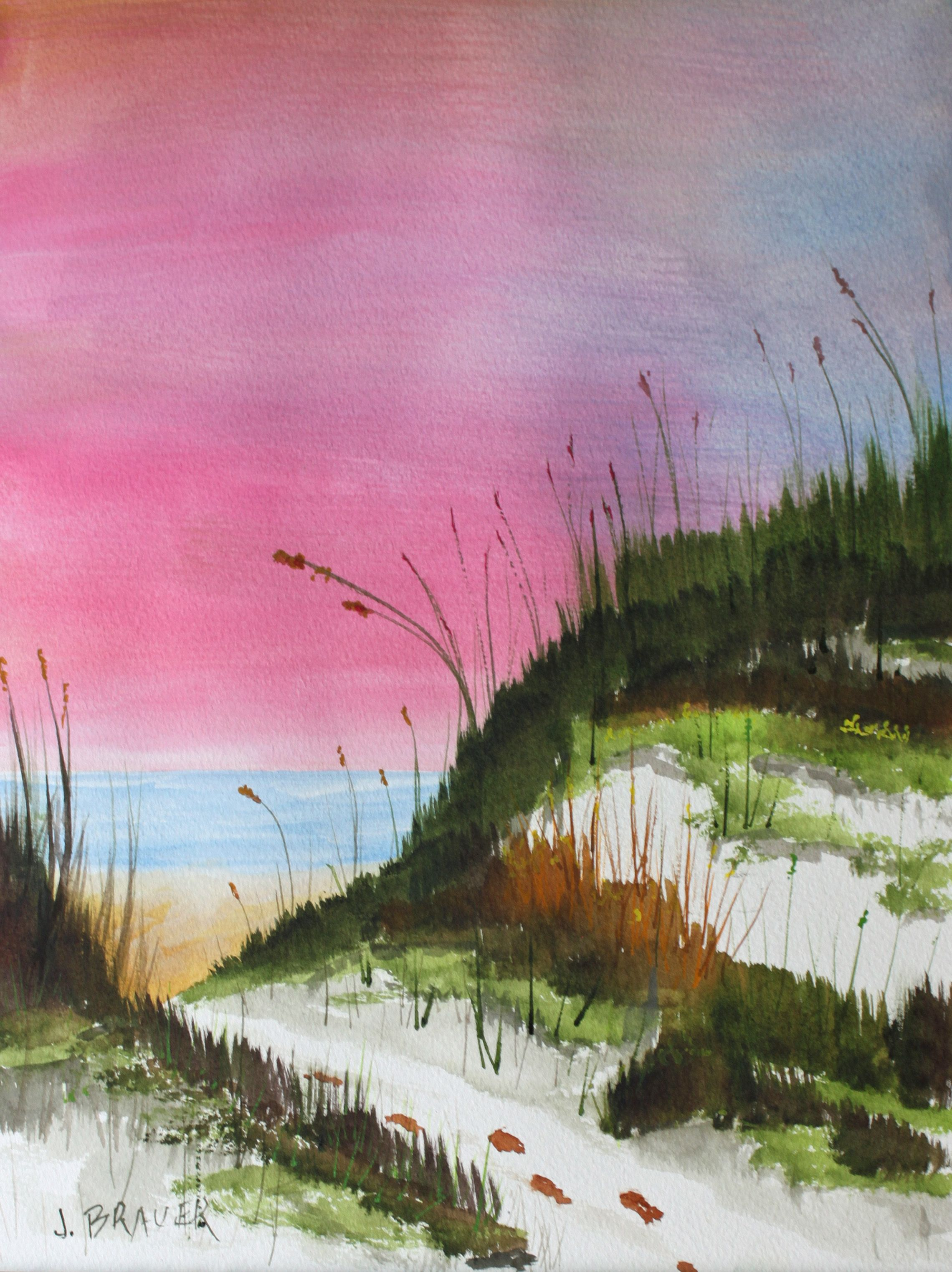 Original watercolor art for sale - White Sandy Beach 16 X 12 Original Watercolor 50 For Sale Painted