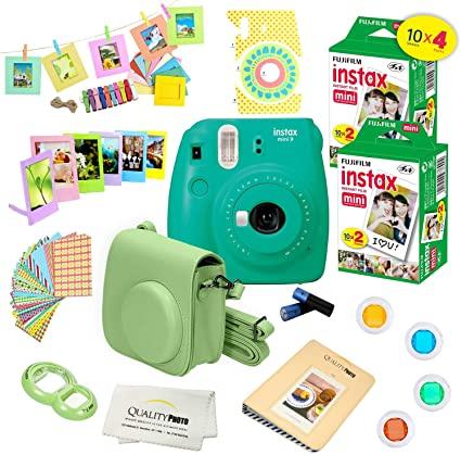 Fujifilm Instax Mini 9 Camera Fuji Instax Instant Film 40 Sheets 14 Pc Instax Accessories Kit Bundle Fujifilm Instax Mini Instax Mini Instax