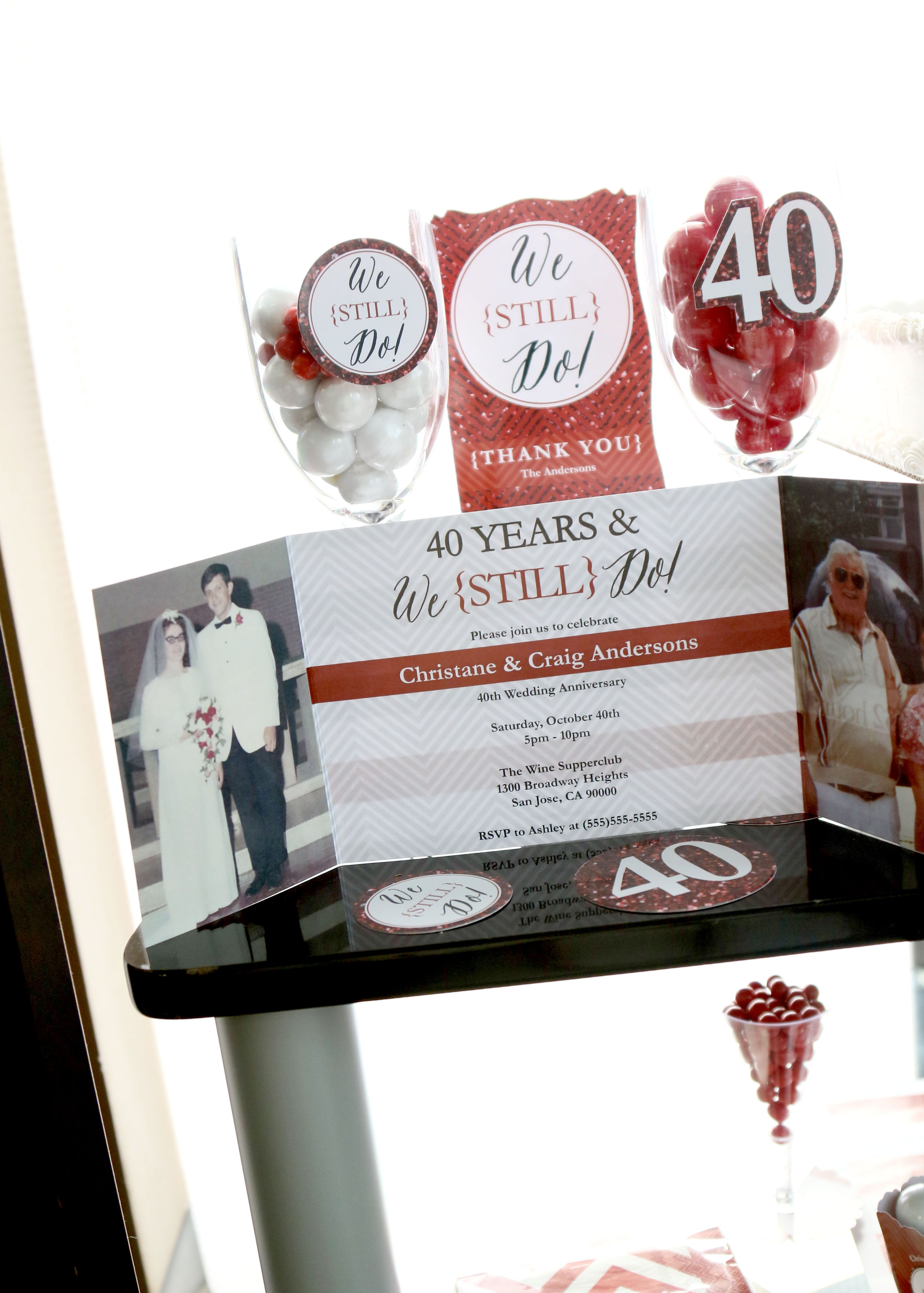 We Still Do 40th Wedding Anniversary Personalized Anniversary Selfie Photo Booth Picture Frame Props Printed On Sturdy Material 40th Wedding Anniversary 40th Wedding Anniversary Party Ideas 40th Anniversary Party