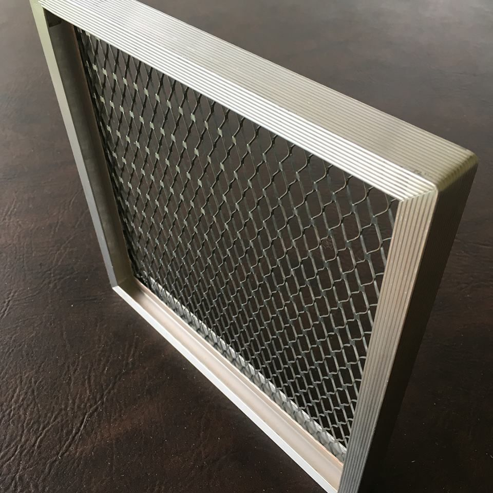 Aluminum frame for safeguard high performance media filter