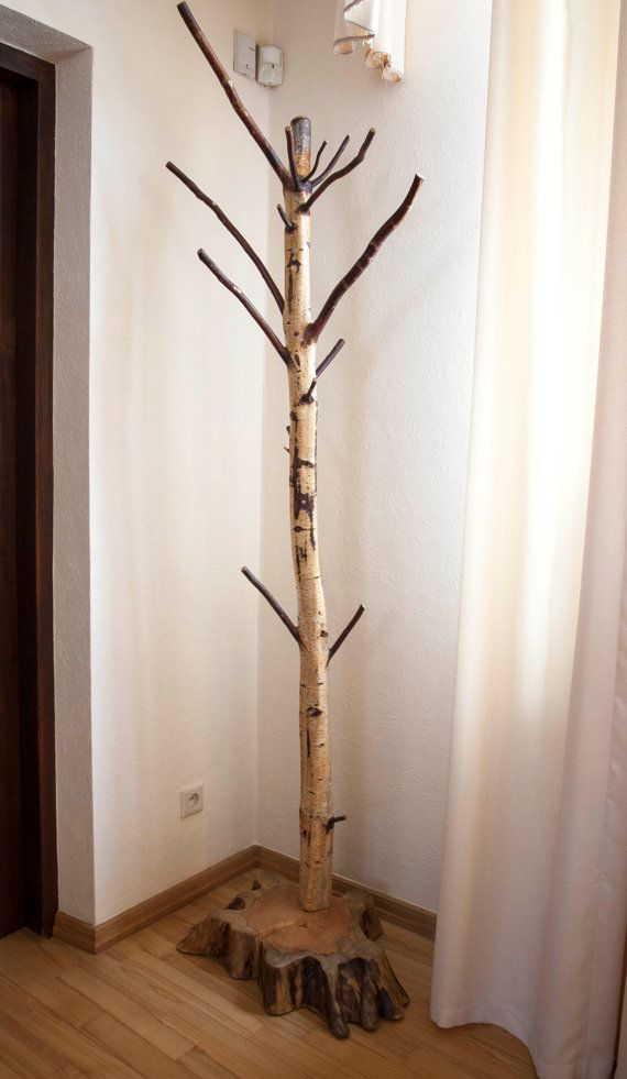 Coat Rack Free Standing Birch Coat Stand Rustic Birch