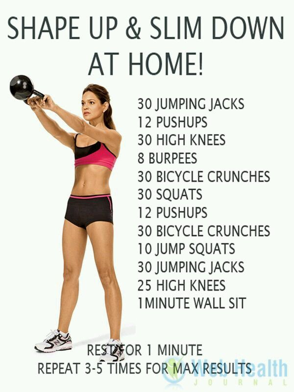 Shape Up And Slim Down At Home Fitness Tips Fitness Body Hiit Workout