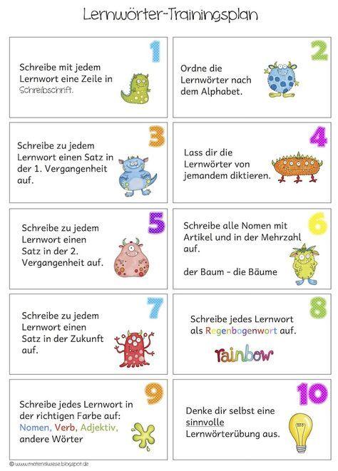 Lernwörterübungen Für Zu Hause Grundschule Elementary Education