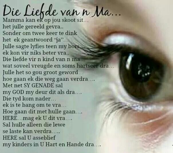 Ma Se Liefde My Afrikaans Afrikaans Quotes Prayer For
