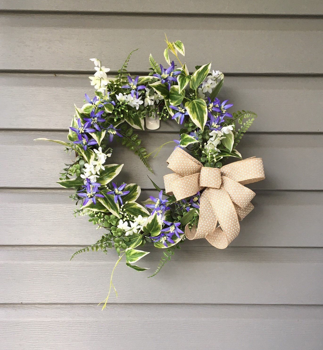 Summer Wreath For Front Door, Year Round Wreath, Small Wreath,