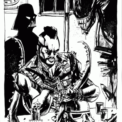 Mr. T and Darth Vader