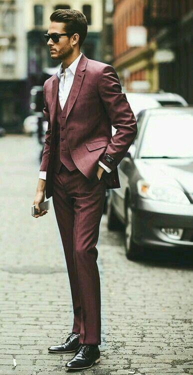 Bordeaux suit
