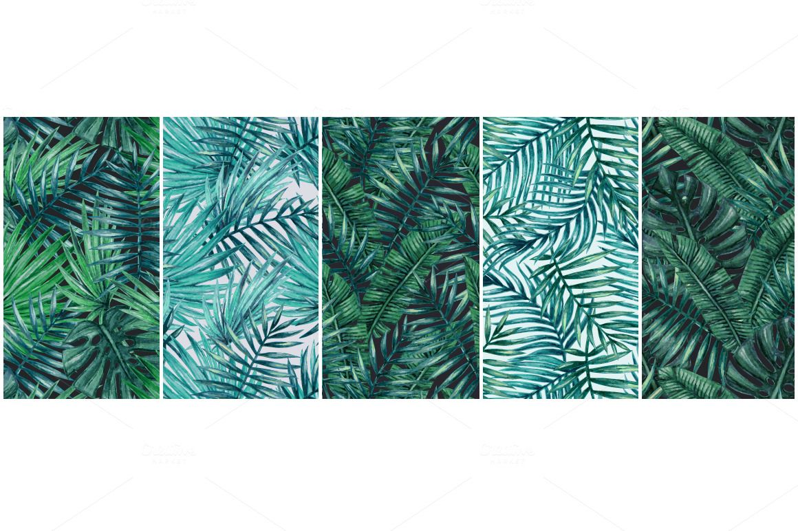 Palm tree leaves seamless pattern by karina cornelius on palm tree leaves seamless pattern by karina cornelius on creativemarket pronofoot35fo Image collections