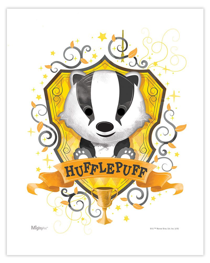 Harry Potter Hufflepuff Watercolor Mightyprint Wall Art Mp08100453 Harry Potter Drawings Harry Potter Hufflepuff Harry Potter Wallpaper