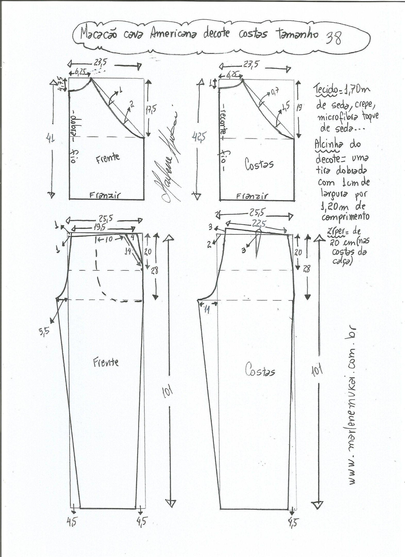 patrones-para-hacer-un-jumpsuit-largo-3 | moldes | Pinterest ...