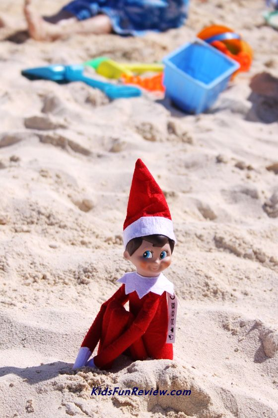 Elf On The Shelf Stows Away To The Beach Elf On The