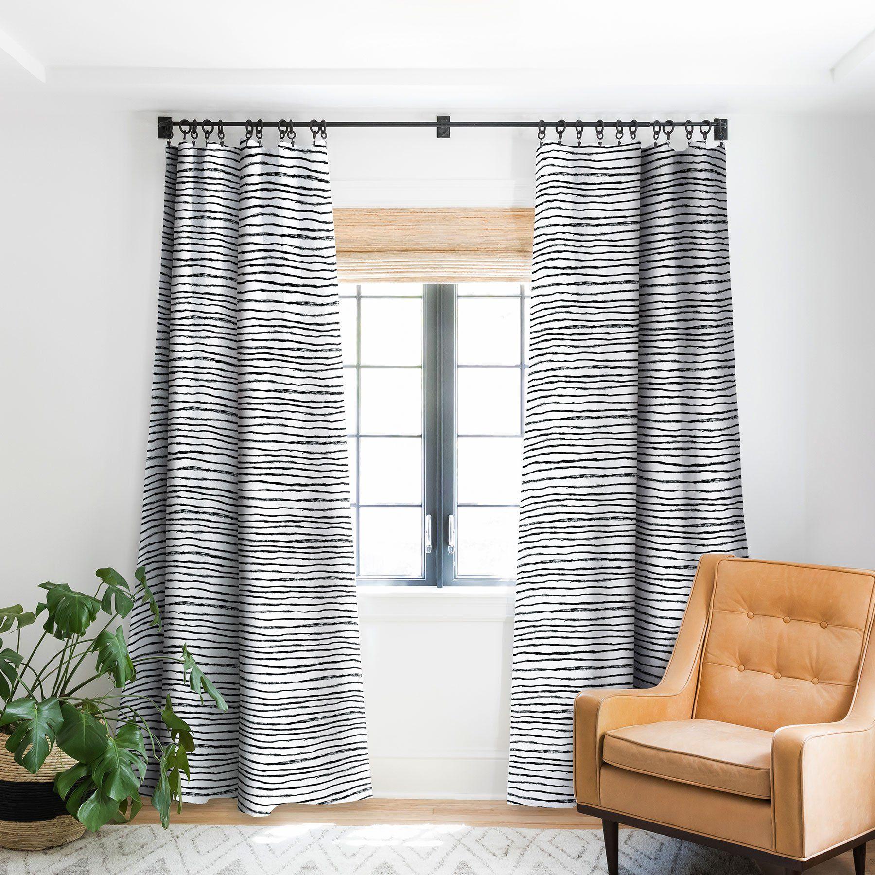 Dash And Ash Painted Stripes Blackout Window Curtain Paint Stripes Striped Curtains Design