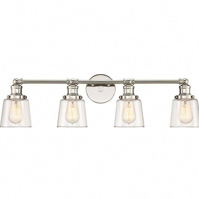 Sabbagh 4 Light Vanity Light In 2021 Glass Vanity Vanity Lighting Light