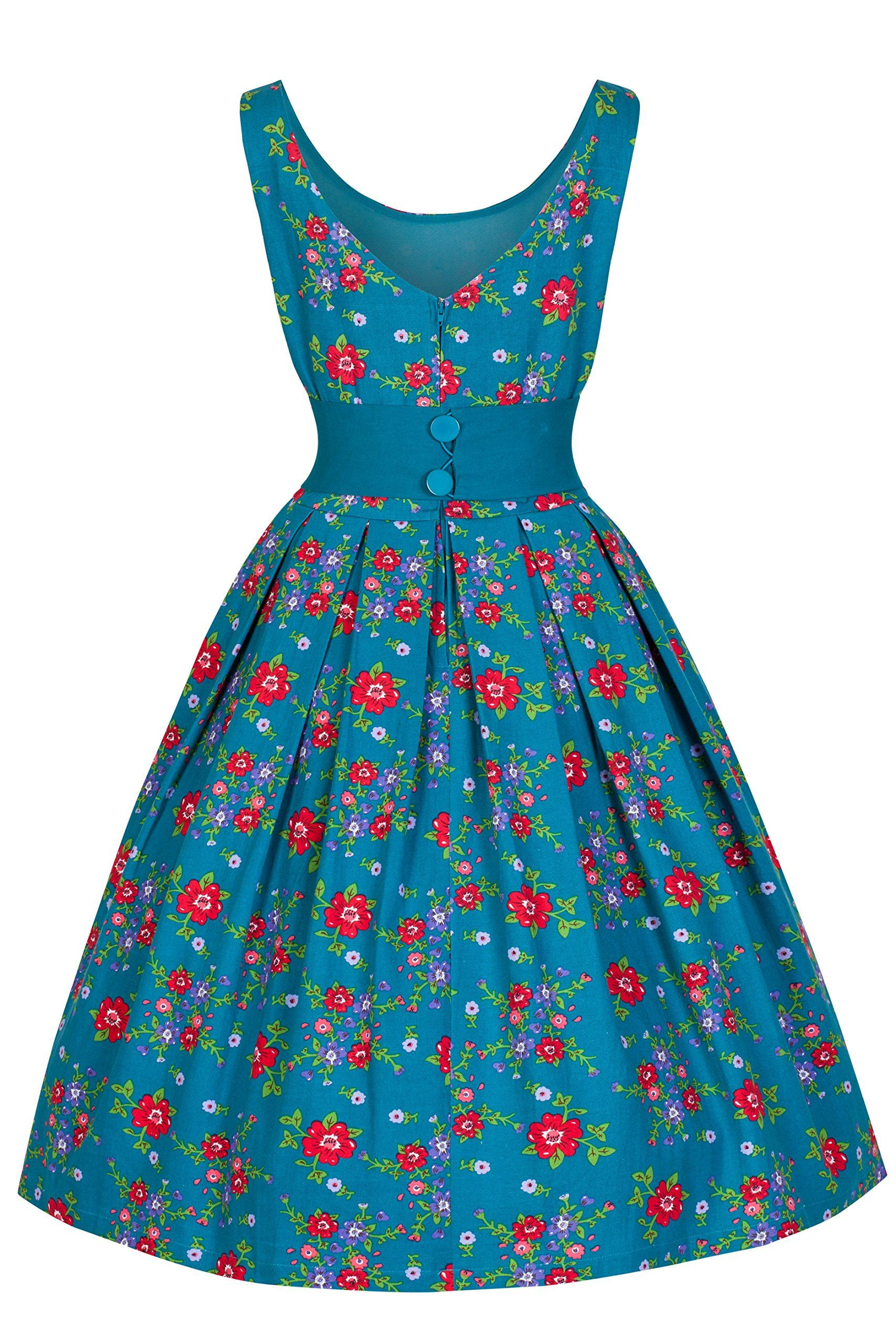 Vintage Garden Party Teal Dresses