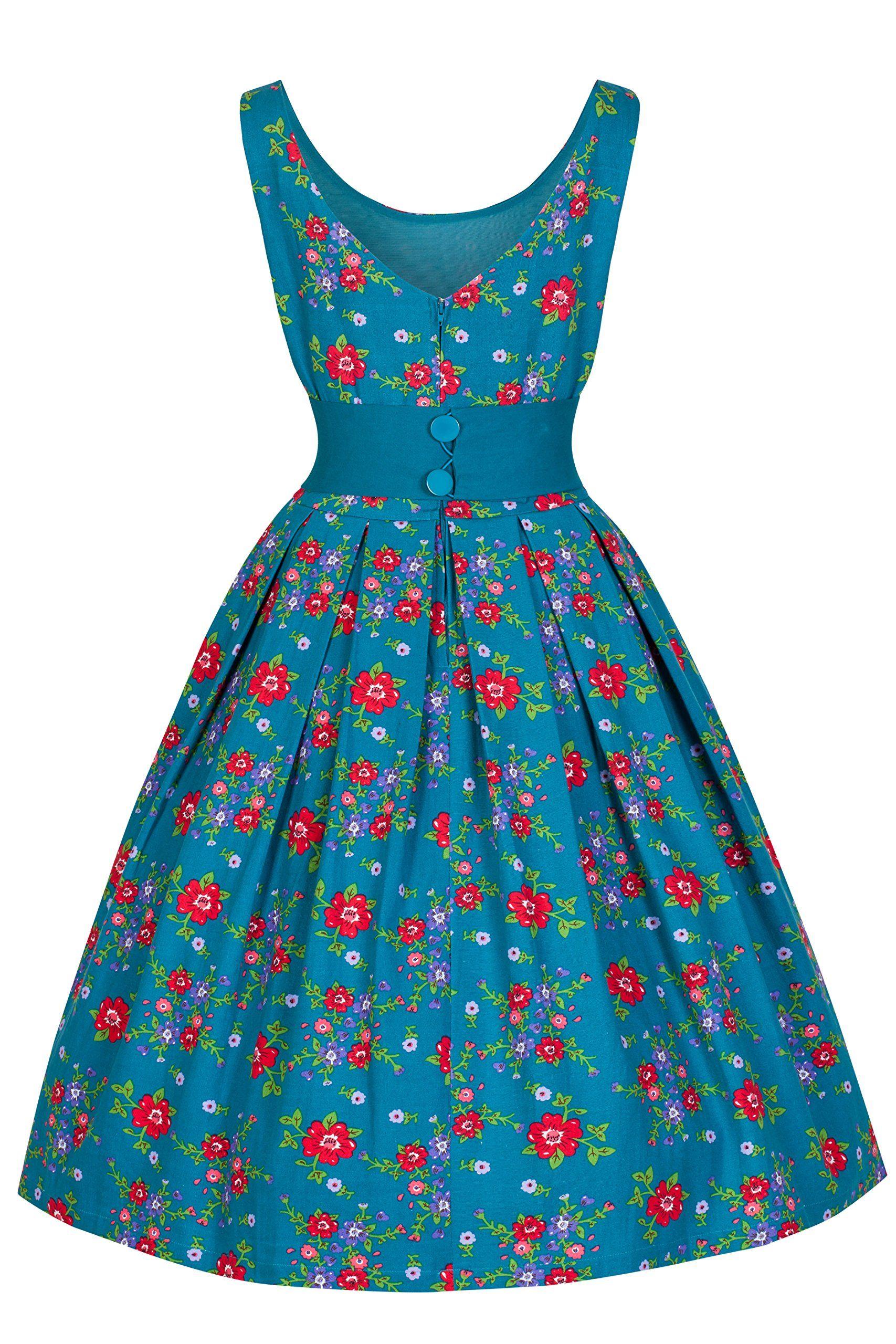 Lindy Bop \'Lana\' Elegant Vintage 1950\'s Garden Party Prom Dress (M ...