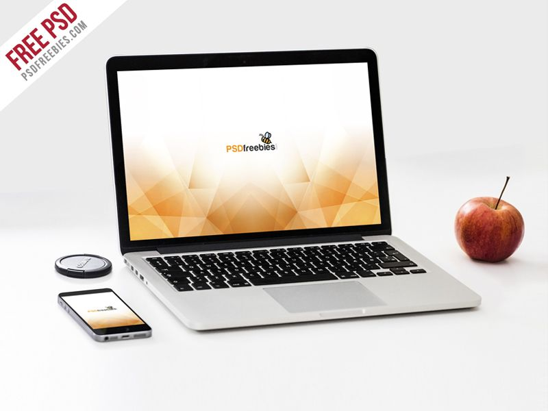 MacBook Pro and phone Mockup Template PSD | Mockups