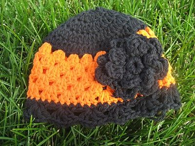 Baby/Toddler Crochet Granny Hat with Flower Applique. Link redirects ...