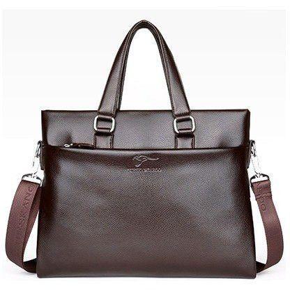 ZEFER Exclusive Mens Leather Kangaroo Shoulder Bag