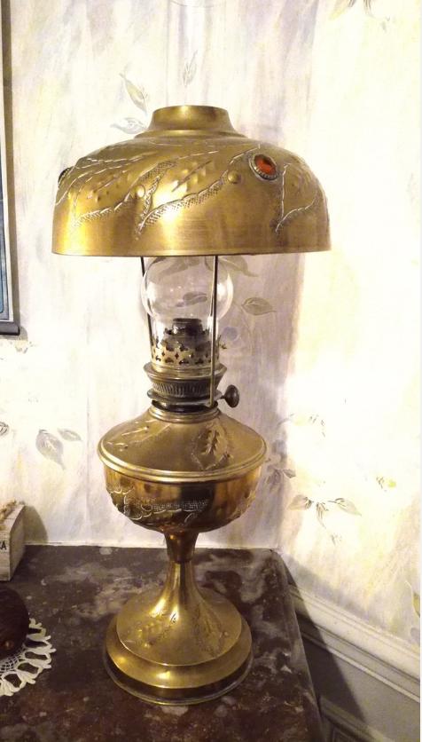 lampe a petrole abat jour