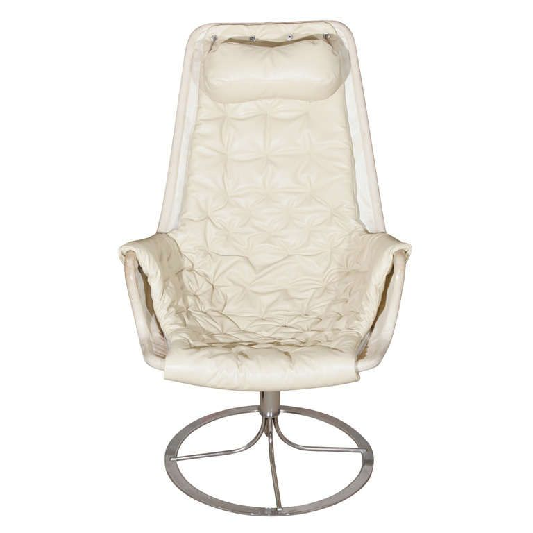 Attractive A Lovely White Leather Jetson Chair By Bruno Matheson