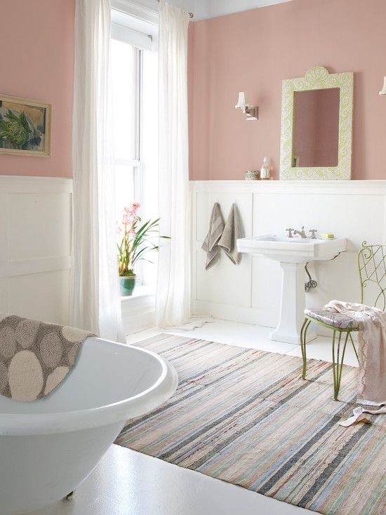 Beautiful Pink Bathroom Tiles Retro Bathrooms Painting Old