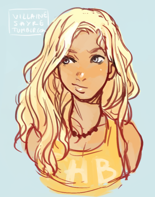 villainesayre: Trying to figure out how to draw Annabeth :D