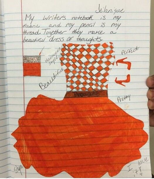 """One of four student metaphor """"winners"""" from our 2015 writer's notebook metaphor contest!  This one came from Jelanique, one of Ms. Sklar's students, a great writing teacher from Illinois. Click here to see the assignment and learn about our annual notebook metaphor contest: http://corbettharrison.com/free_lessons/Four-Metaphor-Poems.htm#contest"""
