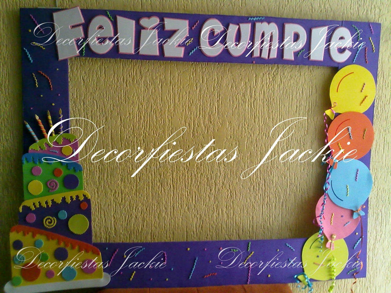 Decorfiestas Jackie: Marcos personalizados para fiestas | Cumpleaños ...
