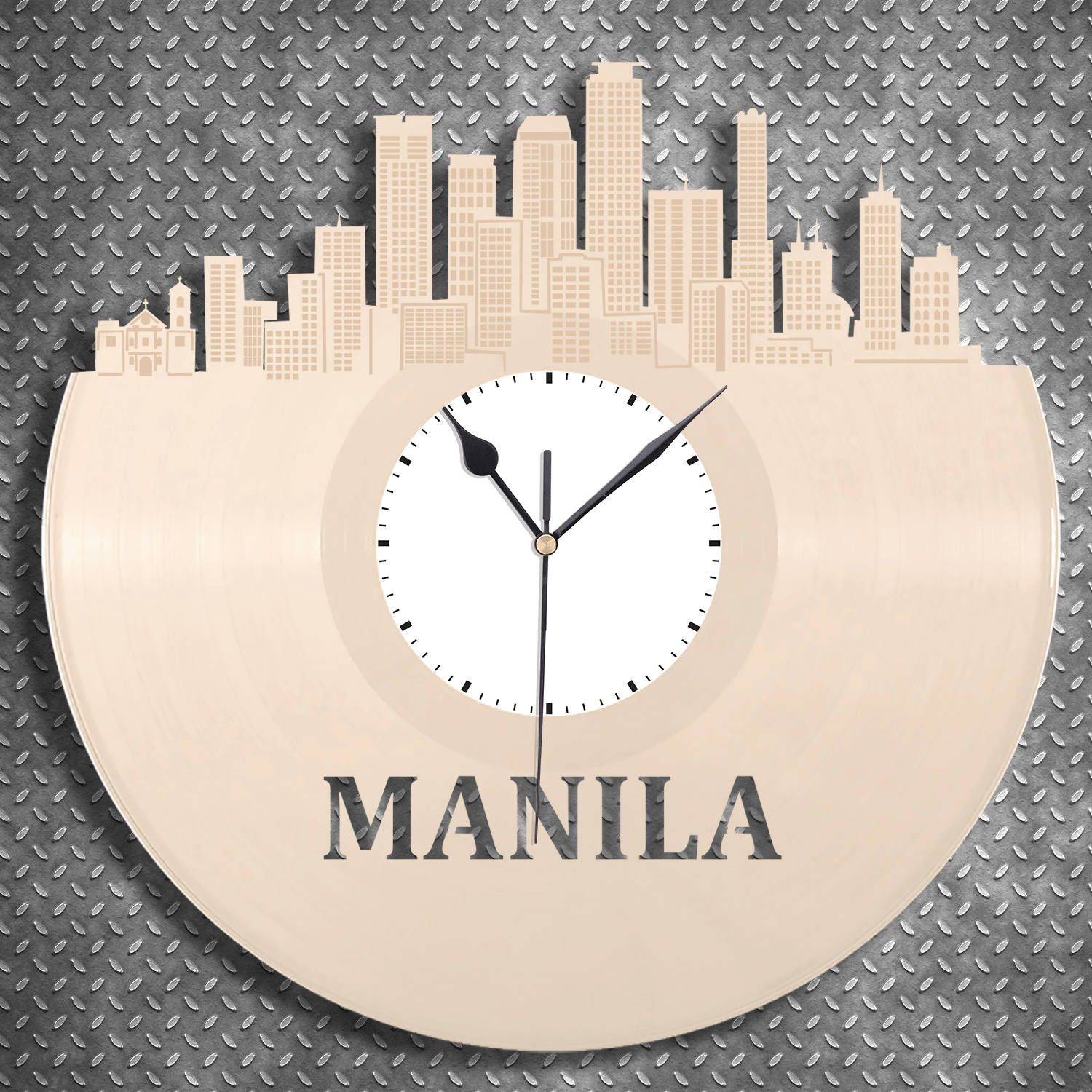 Manila Philippines Clock, Filipino Travel Gift, Personalized