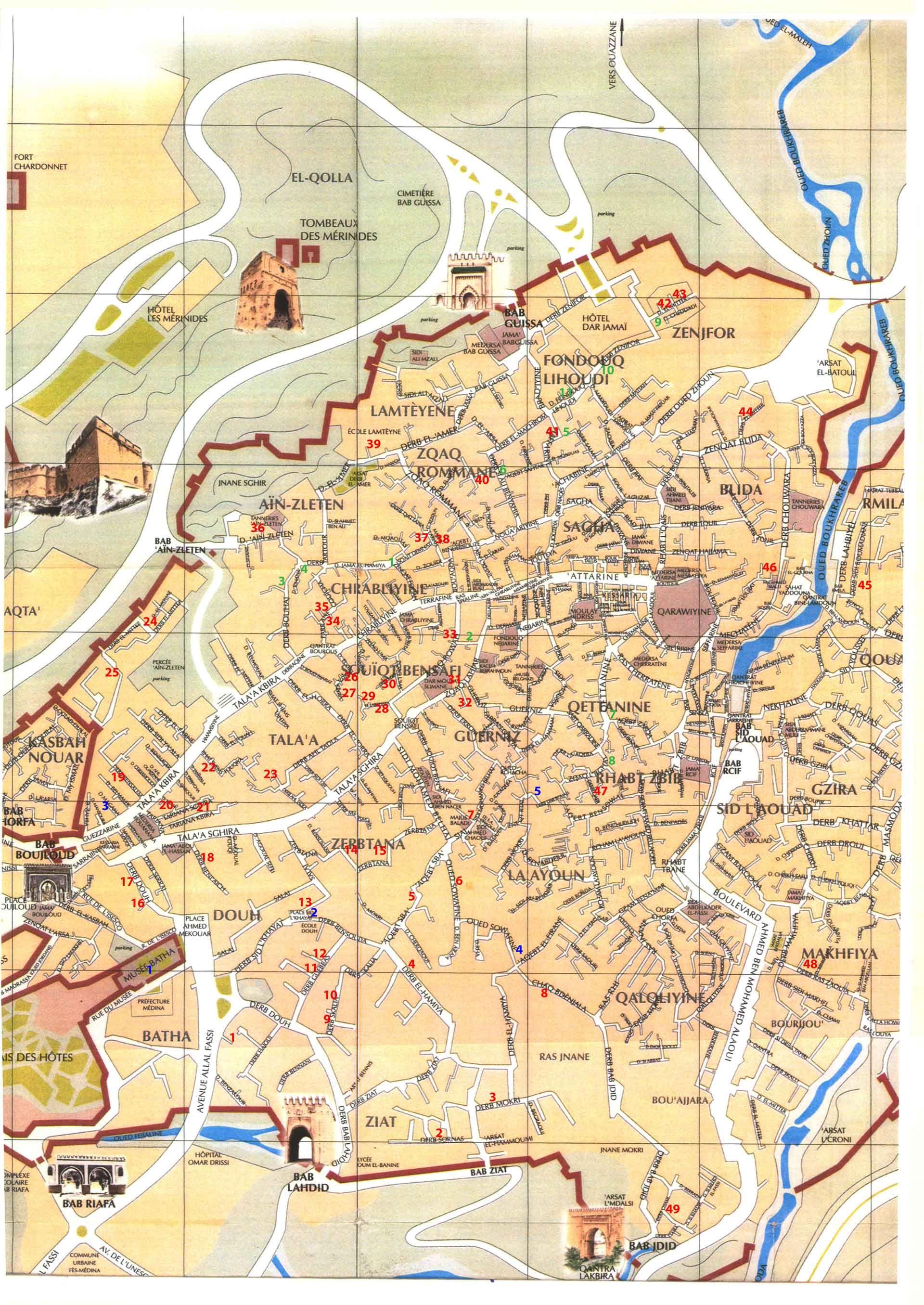 Fez-Medina-map-November-2012   Fez, Morocco: People, Culture, Arts ...