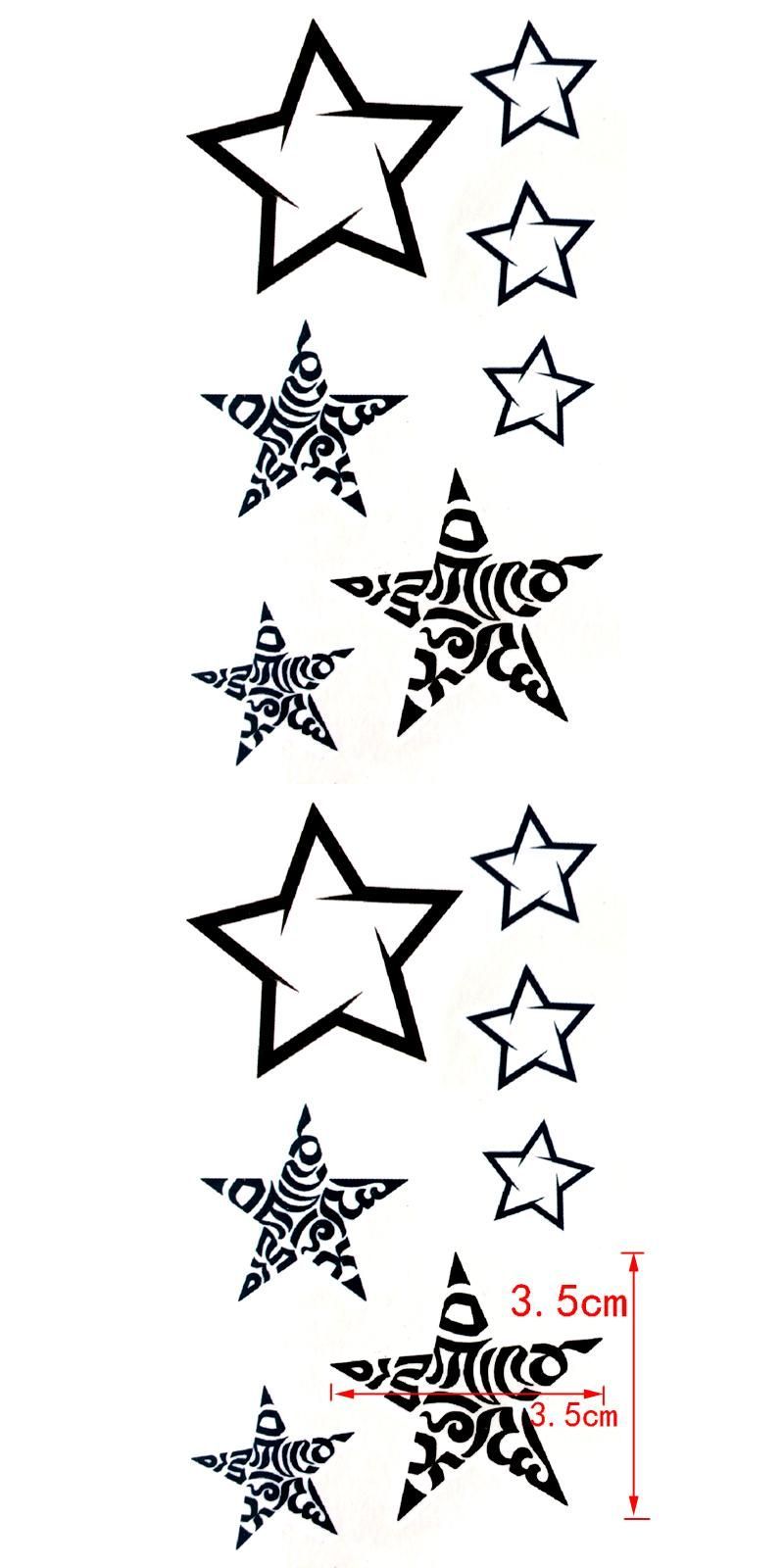 [Visit to Buy] Flash Star Waterproof Temporary Tattoo sticker for men and woman henna tatouage glitter tattoo tatuagem temporaria #Advertisement