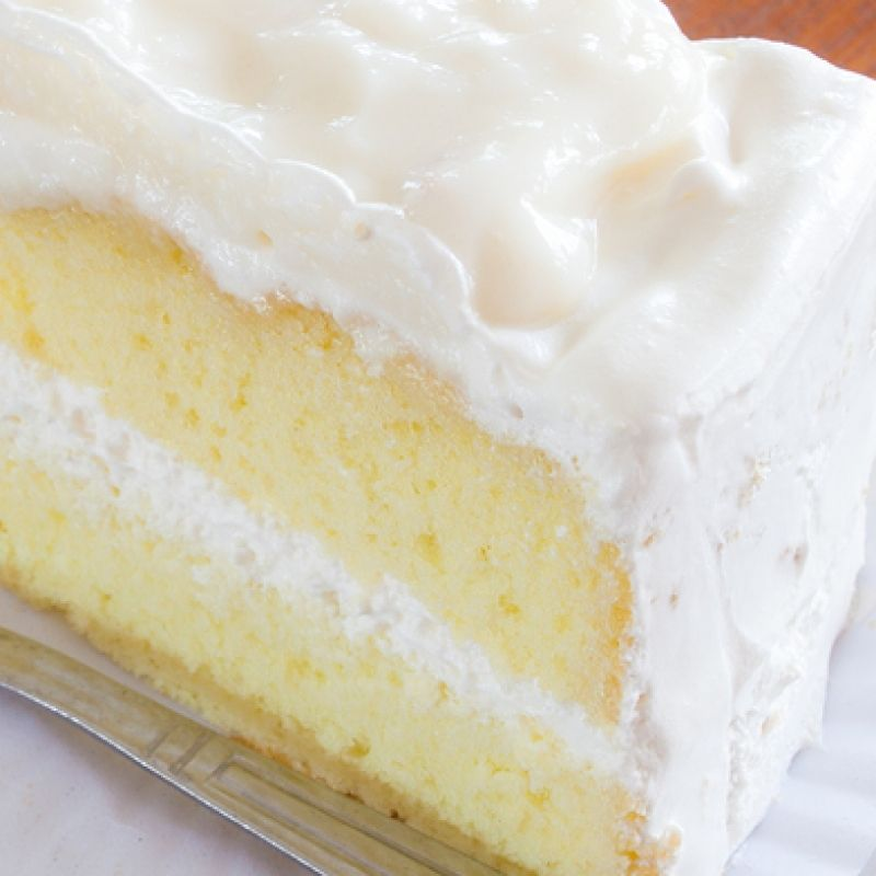 This moist white cake recipe uses simple ingredients and makes a two