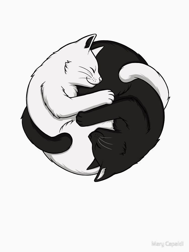 Yin Yang Cats T Shirt By Mary Capaldi Kotyacha Tvorchist Koti Koshenyata