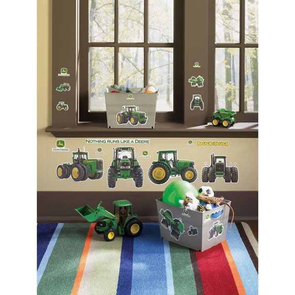 John Deere Removable Wall Stickers Fun Way To Transition From A Baby Room Without Committing