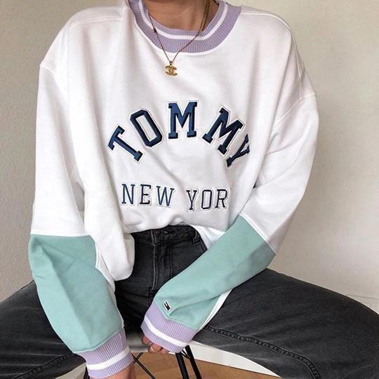 Photo of Uformell farget matchende langermet genser med rund hals for kvinner, #Ladies #farge # for # …