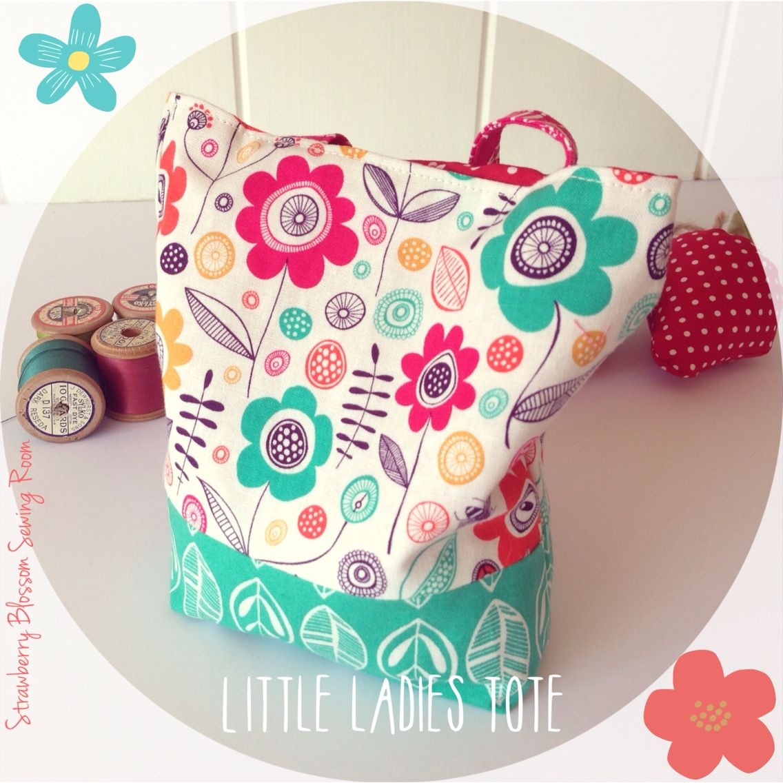 When I was a little girl I always had a little handbag in tow filled to the brim with all the essentials! Little girls love a pretty bag and these mini totes would see them stepping out in style. £7 each  (dimensions- 6x6 inches) #sew #sewing #handmade #sewingaddict #sewingproject #bag #totebag #flowers #handbag #girlsgift #gift  Www.facebook.com/strawberryblossomsewing