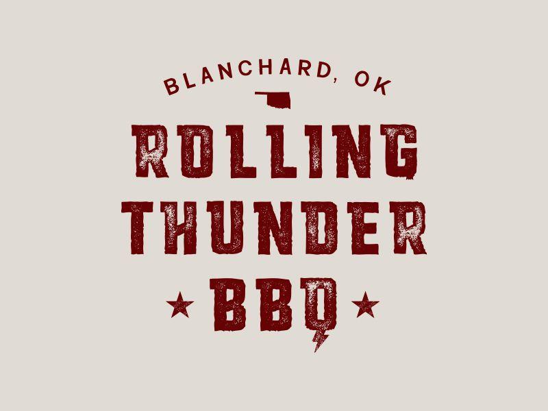 Barbecue logo, BBQ logo, weathered text, Oklahoma