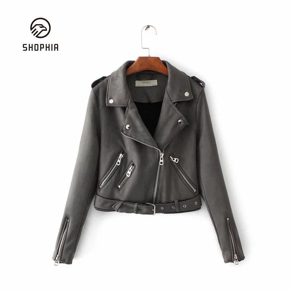 Zipper Turn Down Collar Woman Short Coat Ladies Solid Color Loose Casual Jacket For Woman Coats Vin Leather Jackets Women Bomber Jacket Women Short Coats Women [ 1000 x 1000 Pixel ]