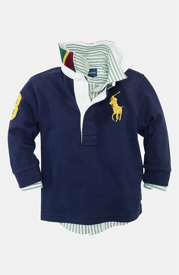a69497606c Ralph Lauren Rugby Polo (Infant) available at #Nordstrom | Sweet ...