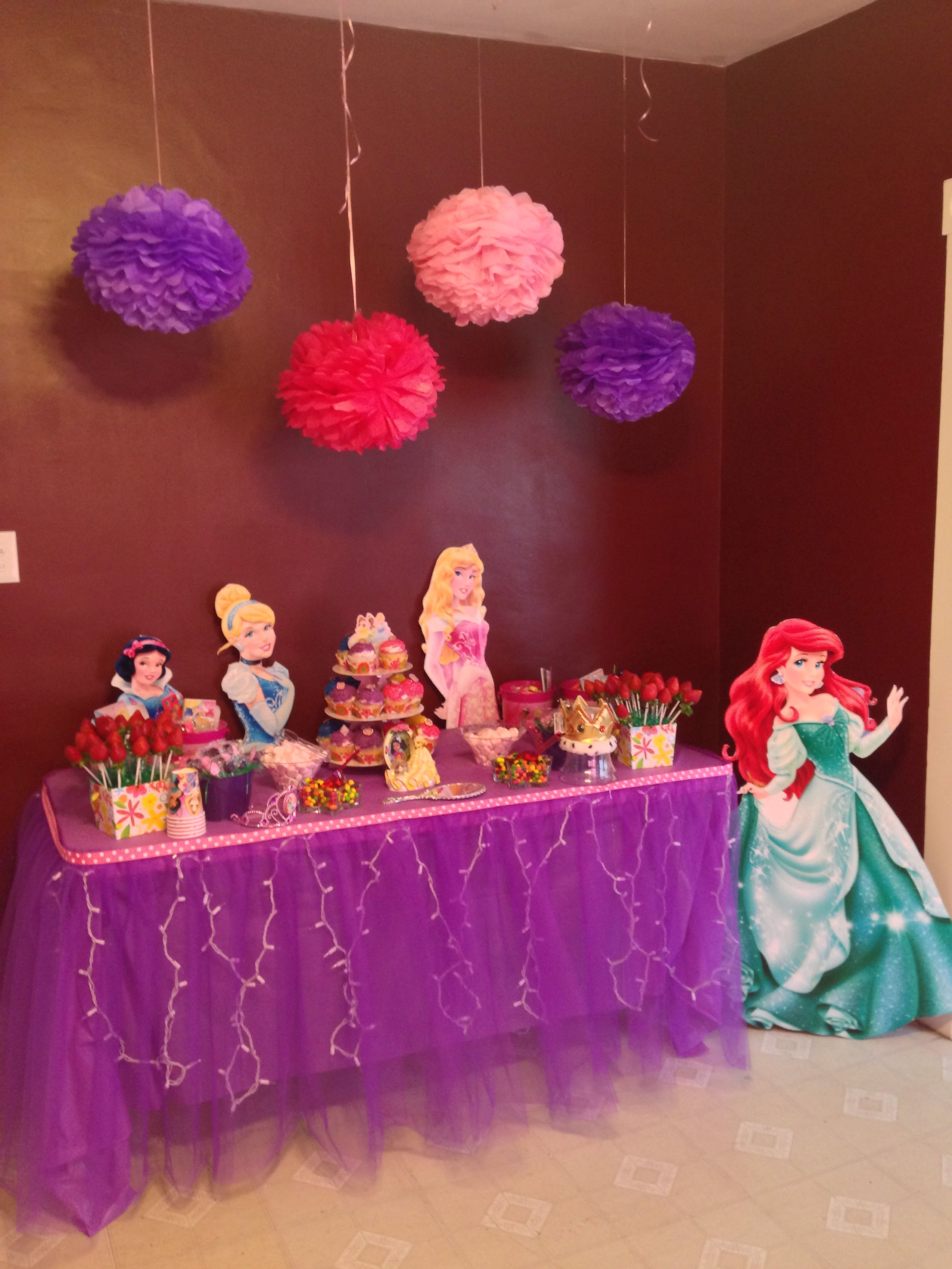 Princess Candy Table 40th Birthday Party Planning Princess Party Decorations 40th Birthday Parties