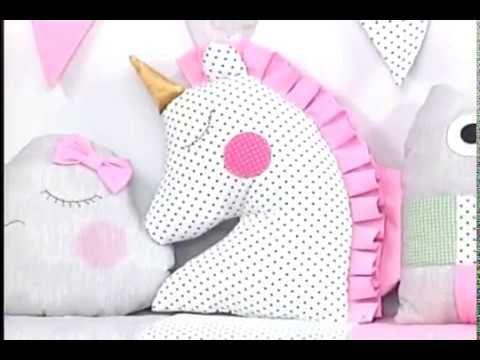 Como hacer un cojin de unicornio. 1/5   YouTube | cojines de
