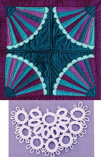 Lace Fan Quilt. Beautiful colors.
